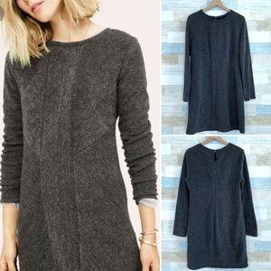 Textured Sweater Dress Gray Lou & Grey